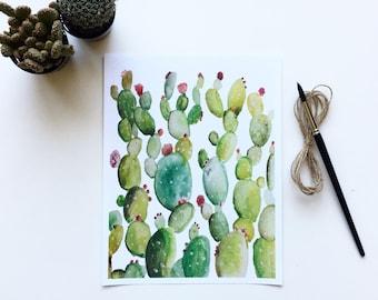Prickly Pear Watercolor