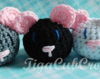 Crochet Mini Mouse Mice Animal Cute Amigurumi Plush Made To Order