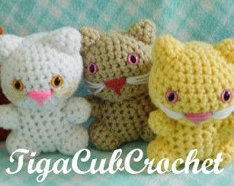 Crochet Small Cat Kitty Kitten Pet Domestic Animal Cute Amigurumi Plush Made To Order