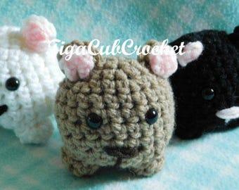 Crochet Mini Grizzly Black Bear Wild Zoo Animal Cute Amigurumi Plush Made To Order