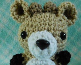 Crochet Small Female Deer Doe Zoo Forest Animal Animal Cute Amigurumi Plush Made To Order