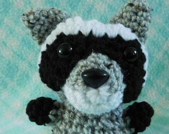 Crochet Small Raccoon Zoo Forest Masked Animal Animal Cute Amigurumi Plush Made To Order