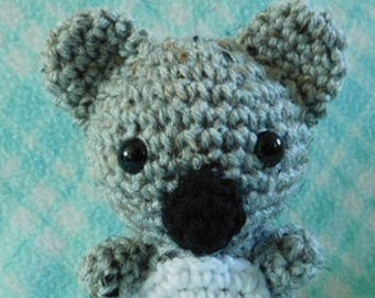 Crochet Small Koala Bear Zoo Forest Animal Animal Cute Amigurumi Plush Made To Order