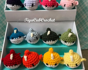 Crochet Mini Narwhal Unicorn Of The Sea Ocean Animal Cute Amigurumi Plush Made To Order