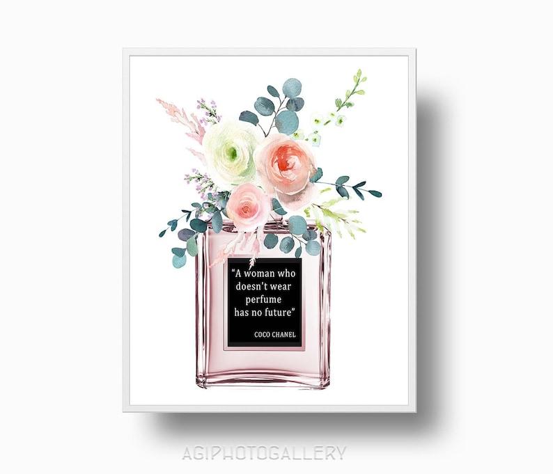 Chanel Parfüm Flasche Coco Chanel Zitat Frau Die Hat Nicht Tragen Parfüm Chanel Printable Download Paris Chanel Strauß Print307