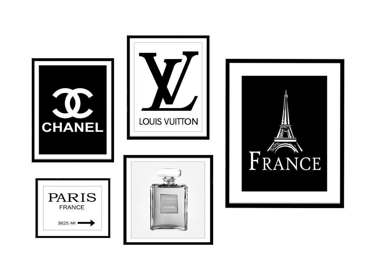 Paris-Chanel-Logo Louis Vuitton-Logo Coco Chanel Chanel   Etsy