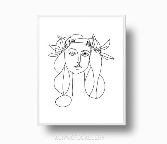 Picasso Print Girl Peace Picasso Poster Picasso Drawing Etsy
