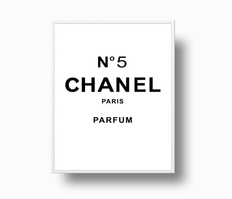 Chanel No 5 Print Chanel Logo Coco Chanel Poster Coco Etsy