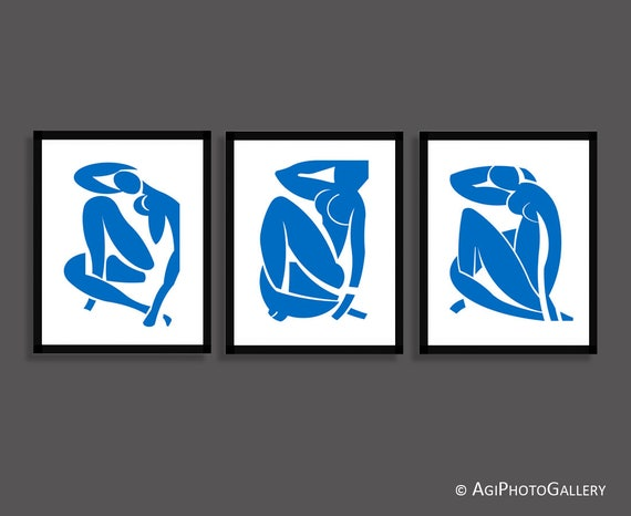 Matisse Blue Nudes Print Set Matisse Print Matisse Cutout | Etsy