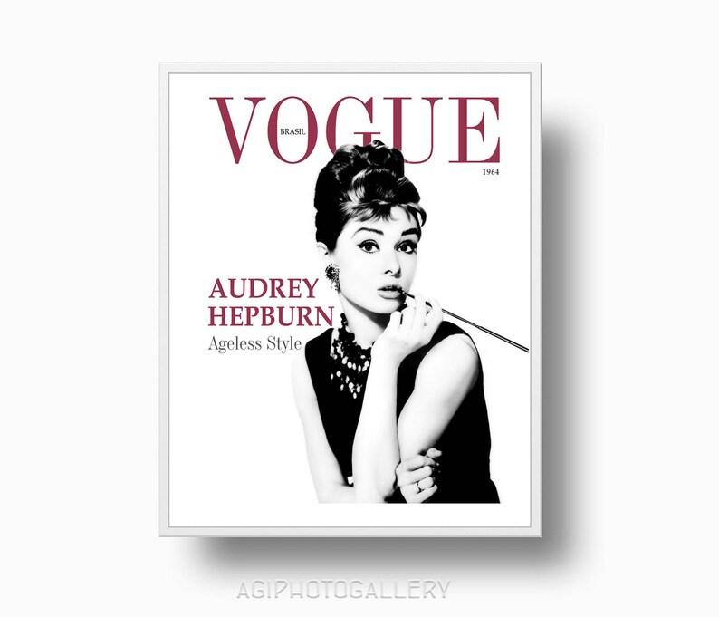 Audrey Hepburn Vogue stampa 1959 moda stampa moda Parigi  e87f1ec5f573