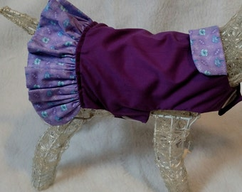 Purple dog dress