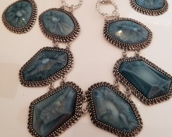 Turquoise Necklace and 2 pair of Earrings- 2 in 1 (SKU #UV3P508 )