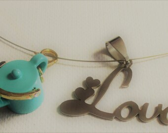 Necklace of Watered Love and pair of Earrings (SKU #UVY3P101)