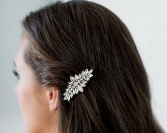 NORA art deco bridal comb, vintage style glamorous bling wedding headpiece, bridesmaid gift