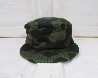fa51a523e1f Vintage Army Hat  Army Camouflage Hat  Military Camouflage Hat  Trooper Cap   Vintage Bulgarian Army Combat Cap  Combat Cap