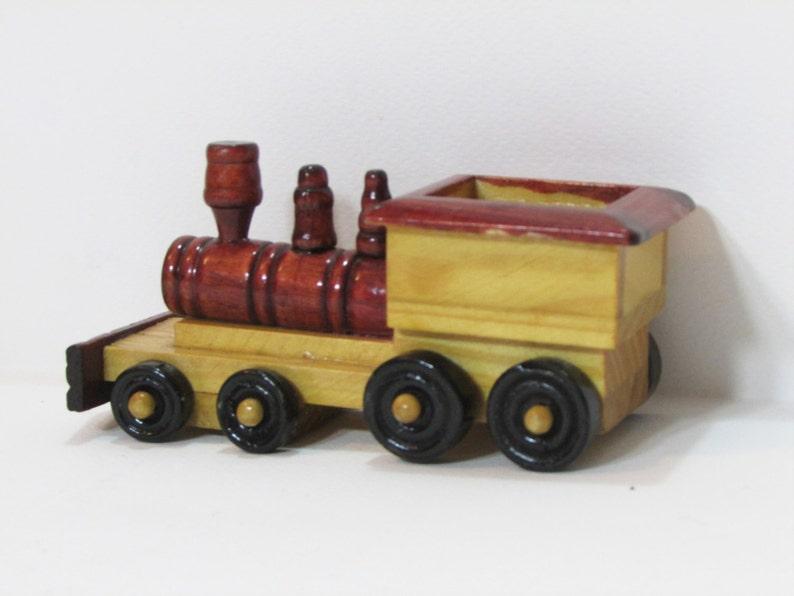 Wonderbaarlijk Vintage houten locomotief Vintage houten speelgoed trein rode | Etsy FU-91