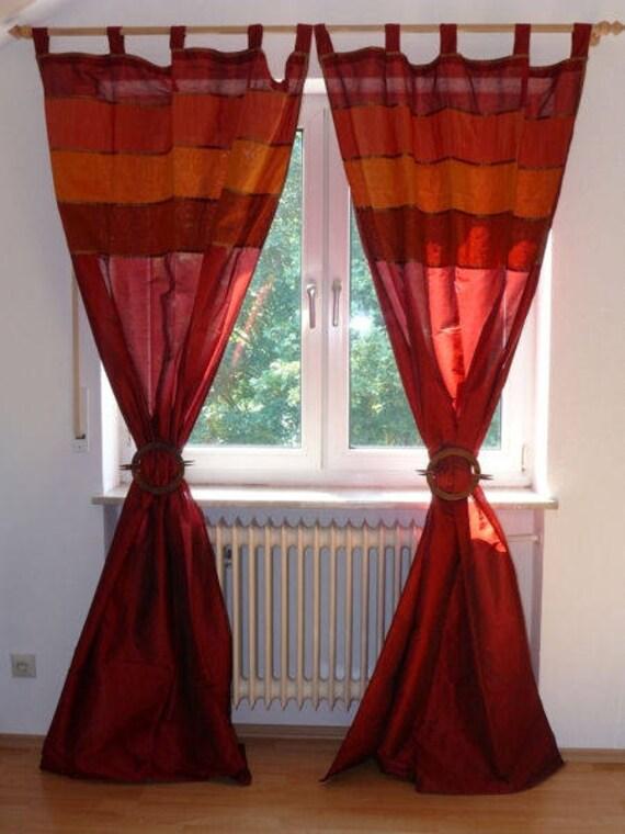 oosterse gordijn lussen sjaal 110 cm x 240 cm kleur rood 1 etsy