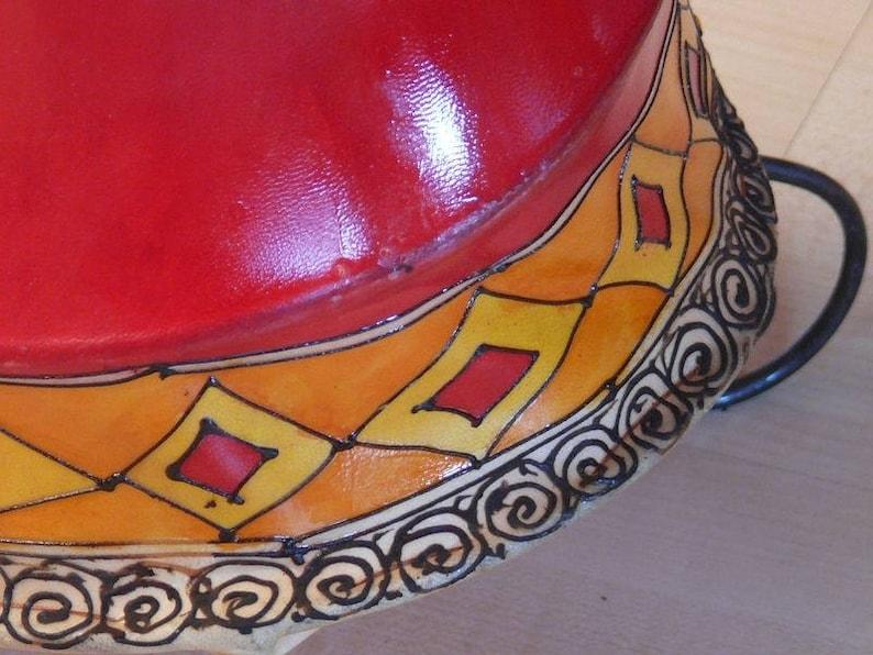 60 cm Henna lamp floor lamp Marrakech 1001 Night Orient leather
