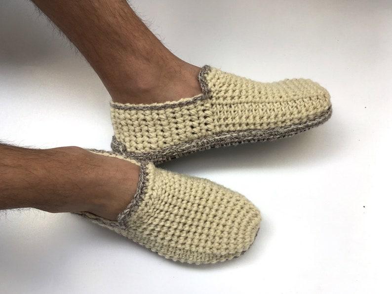 7df3dcbba57c97 Pantofole in lana naturale 100% con suole di feltro puro
