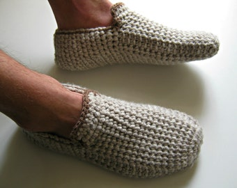 Crochet Men's Slippers, House Shoes, Crochet Shoes, Mens Loafers, Wool Slippers, Slippers Socks, Gift for Men, Christmas Gifts, UnaCreations