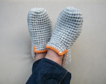 Crochet Slippers, Mens Slippers, Crochet shoes, House Shoes, Slipper Socks, Wool Slippers, Mens Loafers, Crochet Booties, Gift for Men