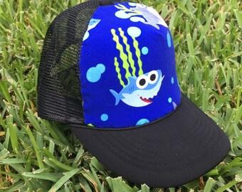 85e7e0f9d Shark trucker hat | Etsy