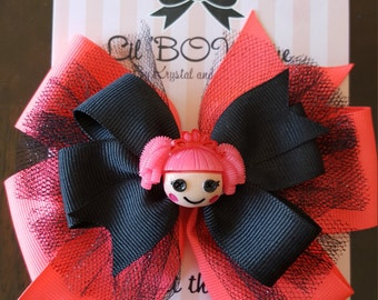 Lalaloopsy inspired stacked bow