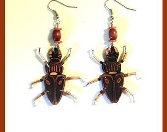 """Earrings """"Dear beetle"""""""