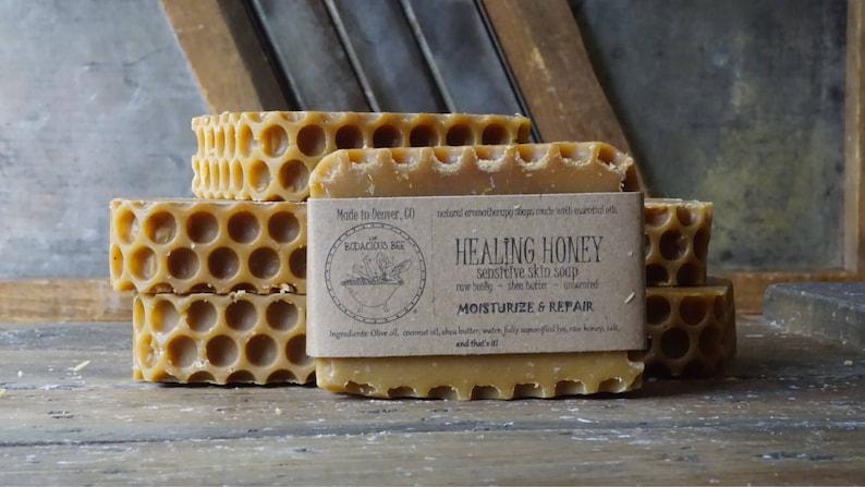 Healing Honey Soap  Moisturizing Soap Acne Soap Eczema image 1