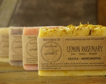 4 Artisan Soaps | All Natural Soap, Handcrafted Soap, Aromatherapy Soap, Handmade Soap, Essential Oil Soap, Cold Process Soap