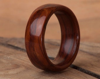 Wood Band Wood Ring Anniversary Gift Wedding Band Cocobolo Cocobolo Ring Handmade Ring