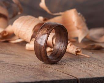 Walnut wood ring, bentwood ring, wood rings, wood ring, bentwood ring, wooden rings for men, wood rings for men, wood ring men, wooden ring