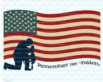 Remember the Fallen svg Memorial Day svg Veterans Day svg America svg American Soldier svg Patriotic svg Patriotism svg dxf eps jpg