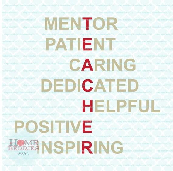 Nauczyciel Uznanie Akrostych Wiersz Mentor Cierpliwy Opieka Dedykowane Pomocne Pozytywne Inspirujące Svg Dxf Jpg Plików Ai Do Cięcia Maszyn