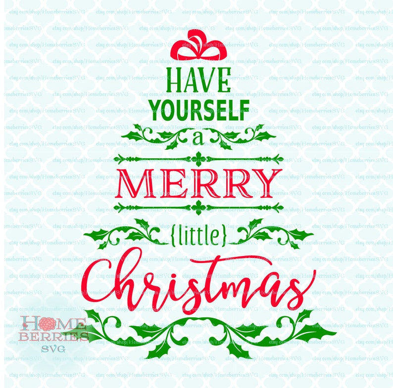 Have Yourself A Merry Little Christmas Tree Song Lyrics Quote | Etsy