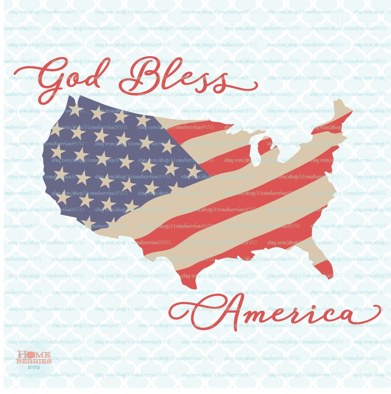 51cead132d God Bless America USA Flag Red White and Blue Patriotic Proud