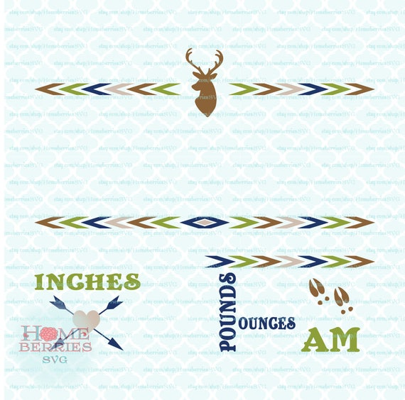 boho deer birth announcement baby stats statistics template etsy