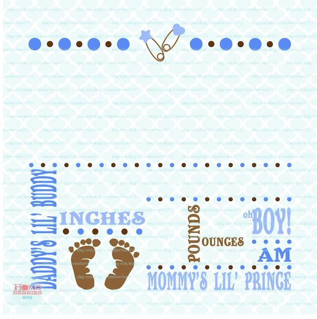 Birth Announcement Template | Birth Announcement Template Svg Birth Svg Baby Svg Etsy