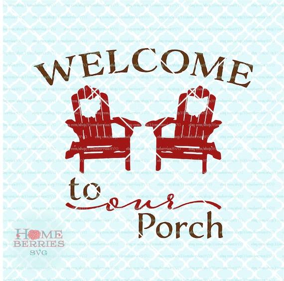 Svg Ohio Bienvenue Bienvenue à notre porche svg svg Bienvenue Adirondack svg Ohio vacances svg Ohio maison svg