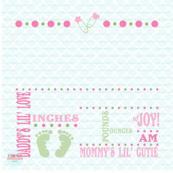 Birth Announcement Template Svg Birth Svg Baby Svg - Electronic birth announcement template