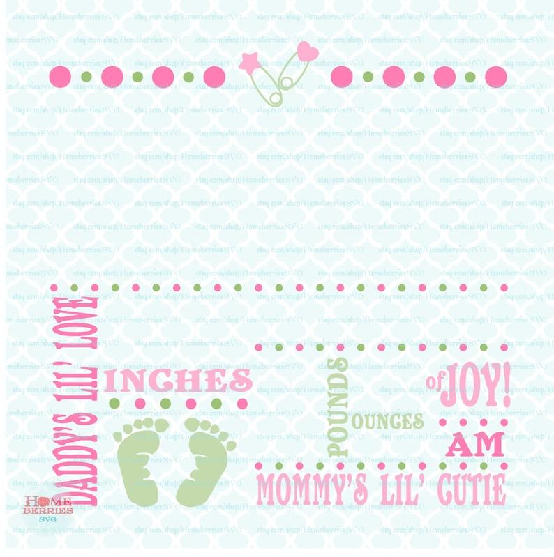Birth Announcement Template Svg Birth Svg Baby Svg Etsy