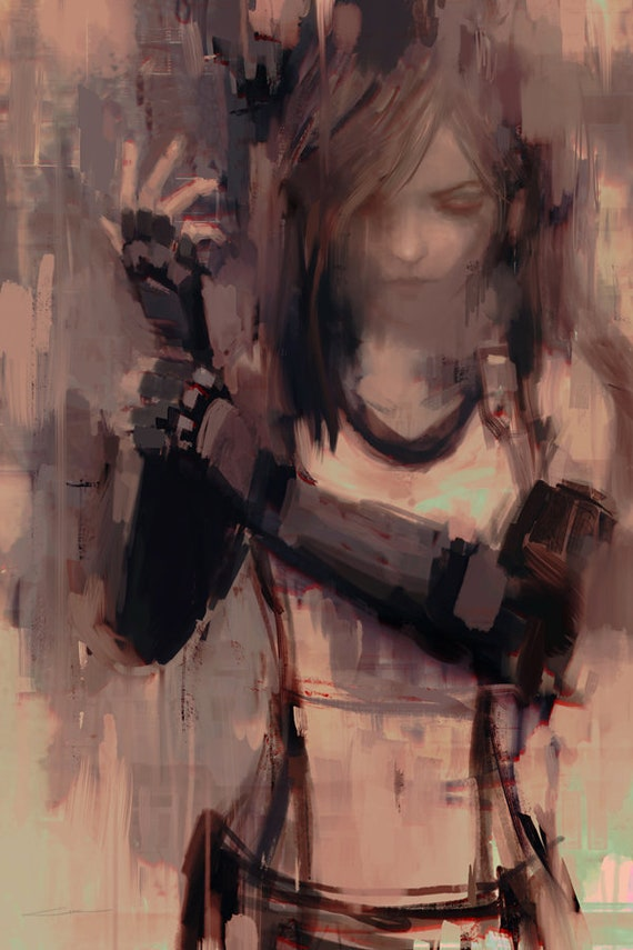 Ff7 Tifa Lockhart Remake Art Print Gamer Gifts Final Fantasy Squarenix