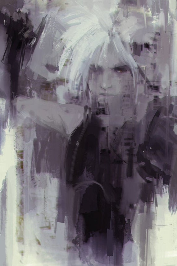 Ff7 Cloud Strife Remake Art Print Gamer Gifts
