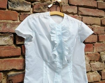 21e2cd184253a1 Vintage 1950s 40s sheer blouse