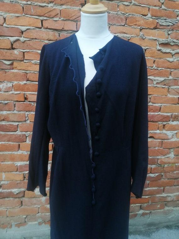 Vintage 1940s 40s wool knit dress - image 2