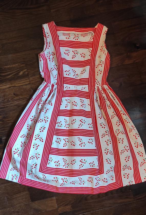 Vintage cotton dress 50s 1950s 40s style