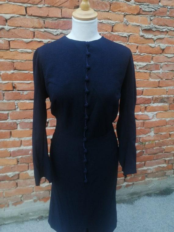 Vintage 1940s 40s wool knit dress - image 3