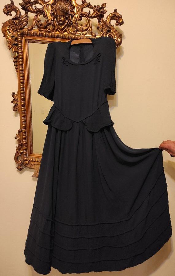 Vintage dress evening gown 1930s 30s 1940s 40s
