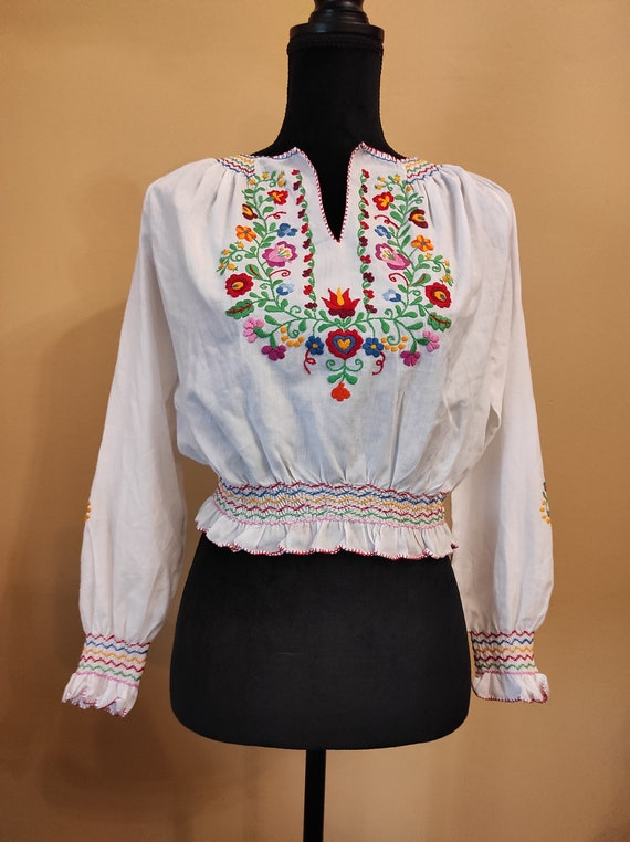 Vintage 50s 1950s blouse does 30s 1930s 40s 1940s