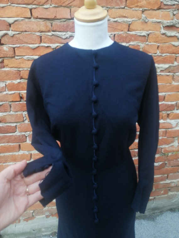 Vintage 1940s 40s wool knit dress - image 5